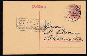 D.-Reich -Rumänien  P1  Ganzsache Zensur Stempel   (oo9491  ) siehe scan