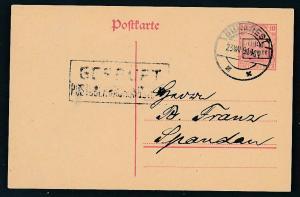 D.-Reich -Rumänien  P1  Ganzsache Zensur Stempel   (oo9489  ) siehe scan