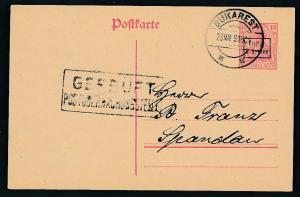 D.-Reich -Rumänien  P1  Ganzsache Zensur Stempel   (oo9487  ) siehe scan
