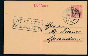 D.-Reich -Rumänien  P1  Ganzsache Zensur Stempel   (oo9486  ) siehe scan