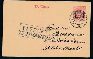 D.-Reich -Rumänien  P1  Ganzsache Zensur Stempel   (oo9484  ) siehe scan