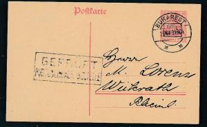 D.-Reich -Rumänien  P1  Ganzsache Zensur Stempel   (oo9483  ) siehe scan