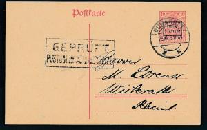 D.-Reich -Rumänien  P1  Ganzsache Zensur Stempel   (oo9481  ) siehe scan