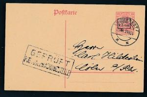 D.-Reich -Rumänien  P1  Ganzsache Zensur Stempel   (oo9480  ) siehe scan