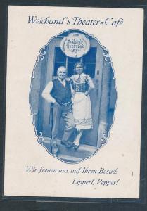 Weicherts Theater Cafe ?-...alte Karte-  (oo3010 ) siehe scan