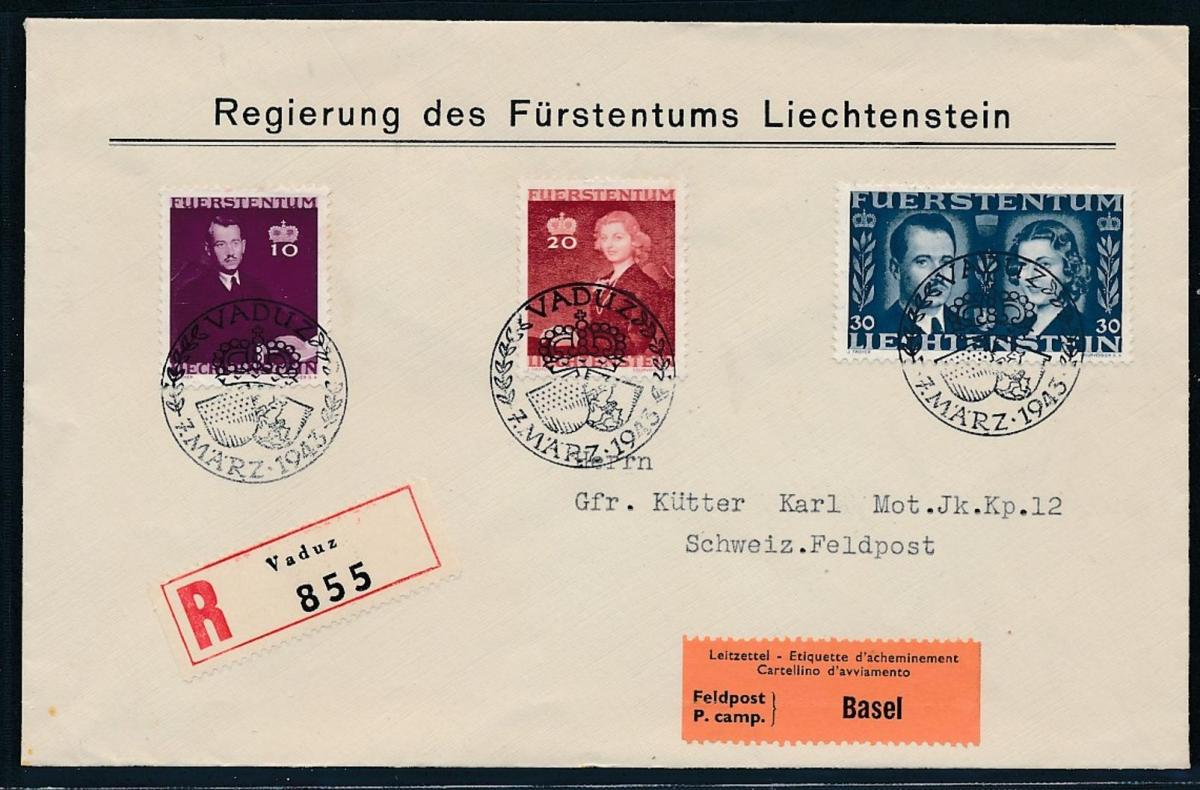 Liechtenstein Feld Post Beleg (zu1558  ) siehe scan 0