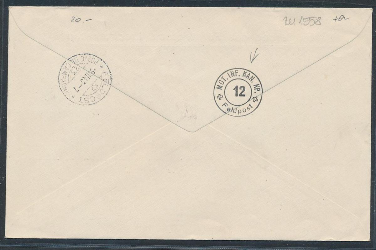 Liechtenstein Feld Post Beleg (zu1558  ) siehe scan 1