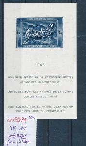Schweiz Block  11 winziger Gummifehler (oo9591  ) siehe scan