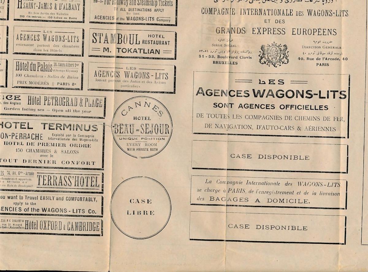 Türkei Werbung ? alter  Beleg     (zu1556  ) siehe scan 1