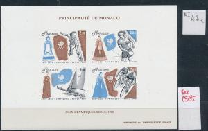 Monaco Block  Olympia 1988   ** GESCHNITTEN !   (zu1595  ) siehe scan