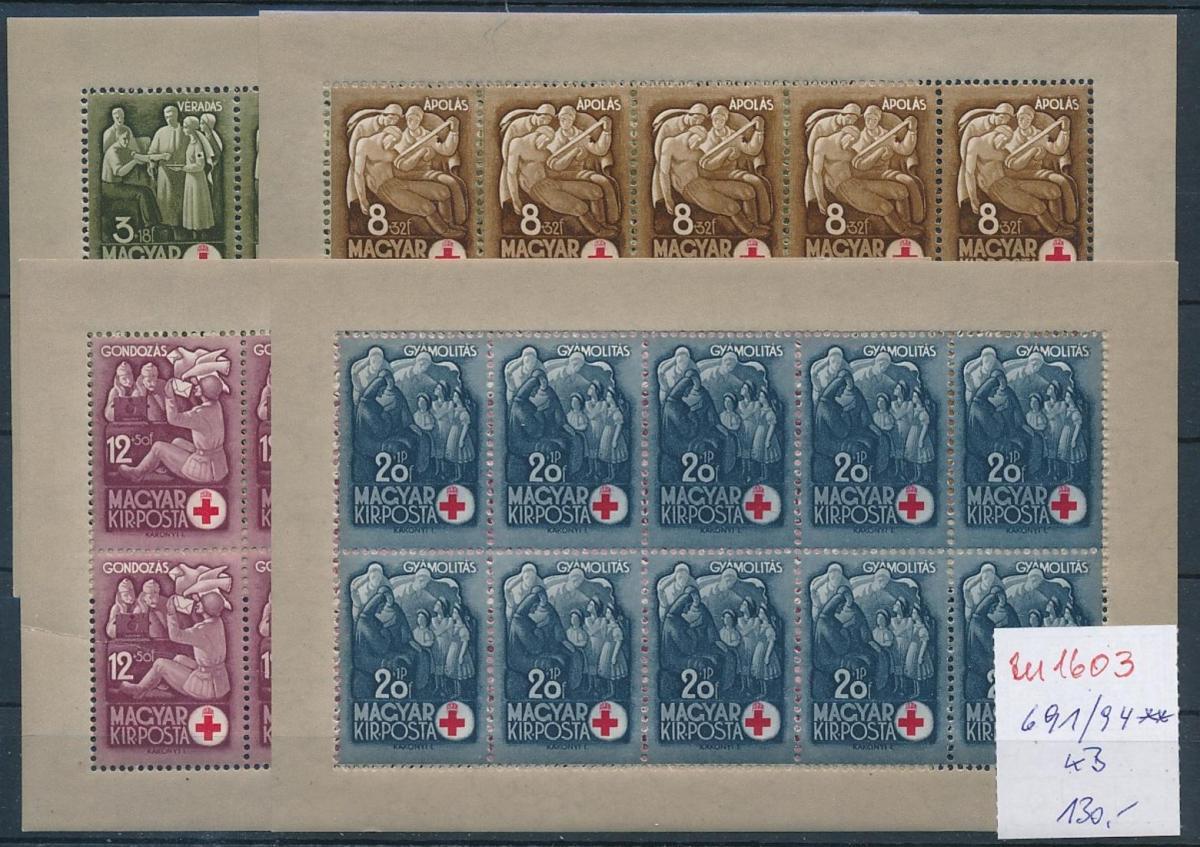 Ungarn  Block  691-94   **   (zu1603  ) siehe scan 0