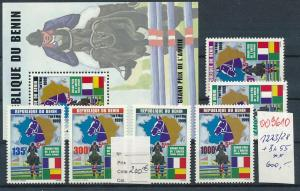 Benin Nr. 1223/28 + Block 55  **  selten !!  (oo9610  ) siehe scan