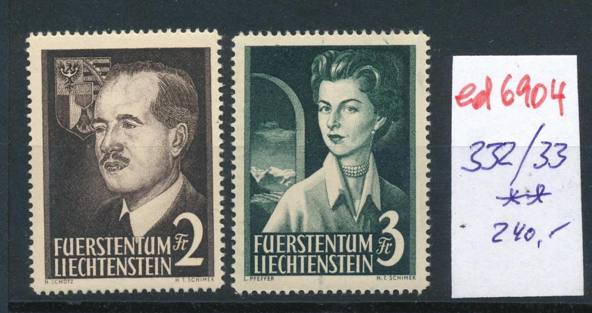 Liechtenstein   ** 332-33  ...  (ed6904  ) siehe scan 0