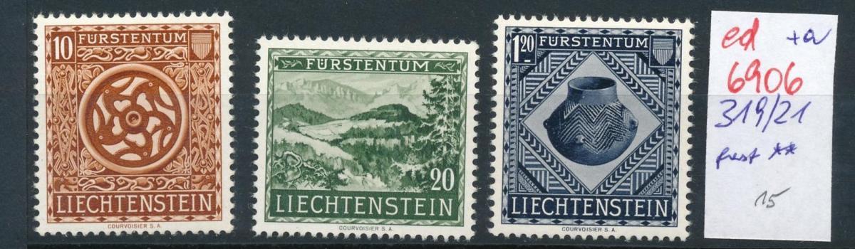 Liechtenstein   319-21  ...  (ed6906  ) siehe scan 0