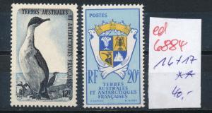 Franz.-Antarktis Nr. 16+17    ** ...  (ed6884  ) siehe scan