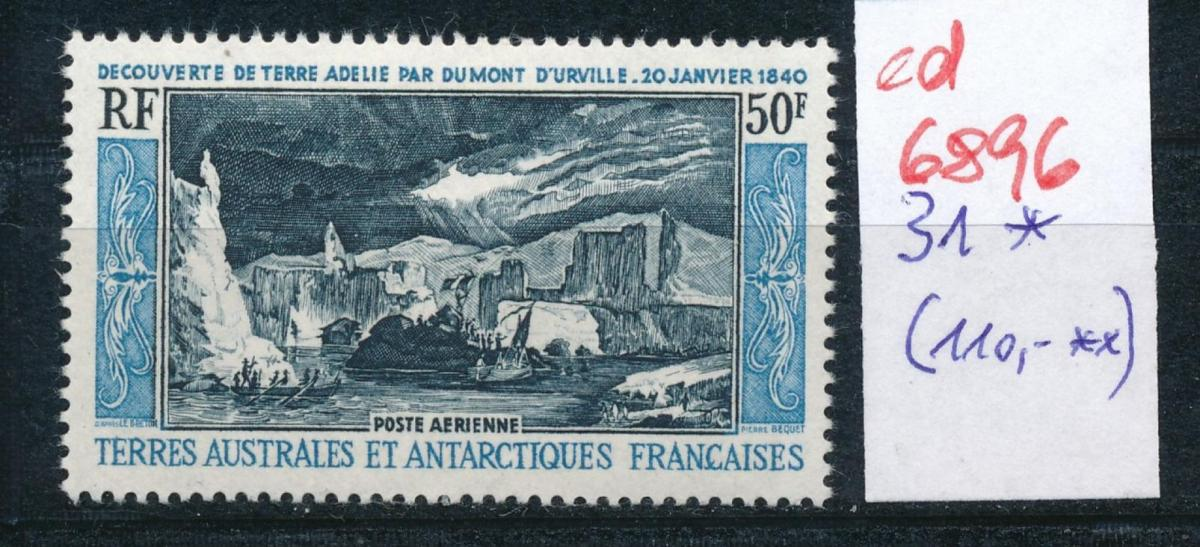 Franz.-Antarktis Nr. 31   sauber * ...  (ed6896  ) siehe scan 0