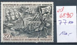 Franz.-Antarktis Nr. 77  **...  (ed6890  ) siehe scan