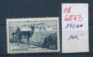 Andorra   Nr. 141     **...  (ed6873  ) siehe scan