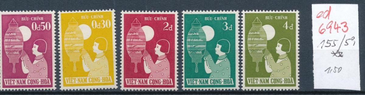 Vietnam Nr. 155-59 **   (ed6943  ) siehe scan 0