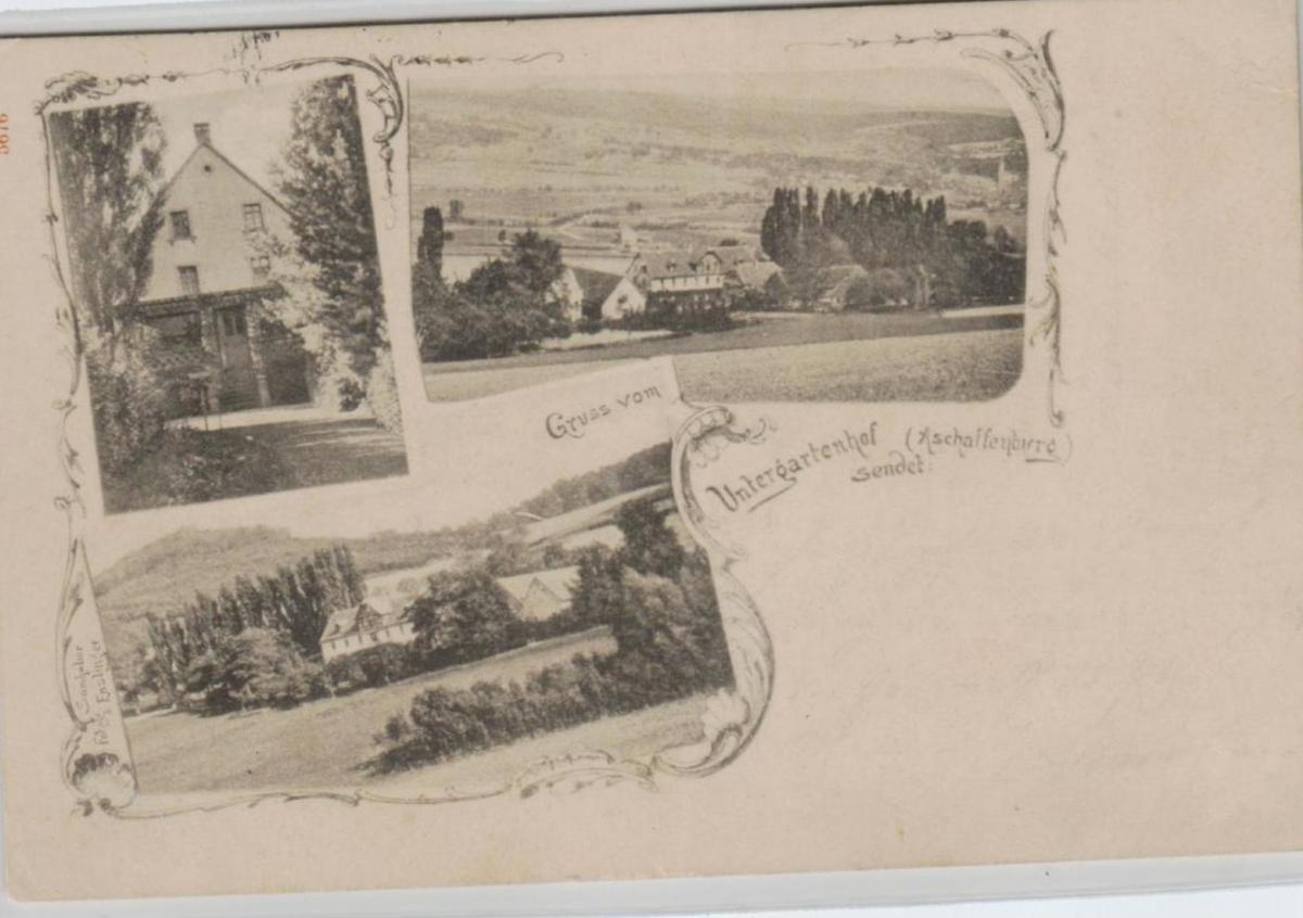 Untergartenhof ...alte Karte    (ke8227  ) siehe scan 0