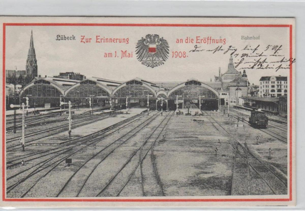 Lübeck Bahnhof  ...alte Karte    (ke8197  ) siehe scan 0