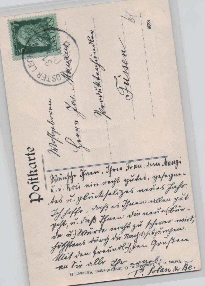 Lechfeld   ...alte Karte    (ke8343  ) siehe scan 1