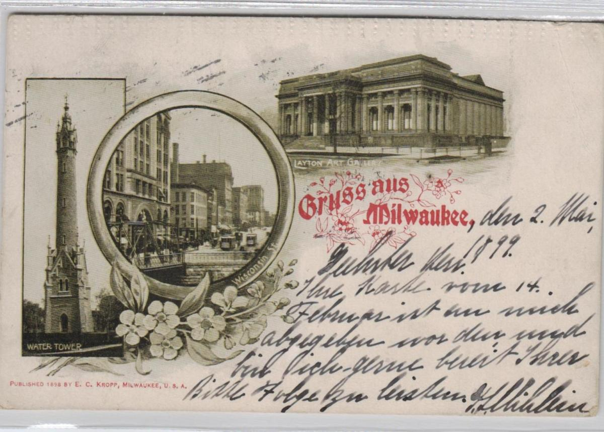 Milwaukee . ...alte Karte    (ke8407  ) siehe scan 0