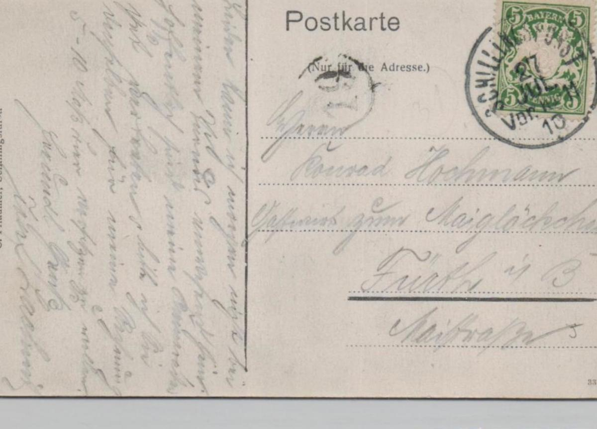 Schillingfürst......alte Karte    (ke8455  ) siehe scan 1