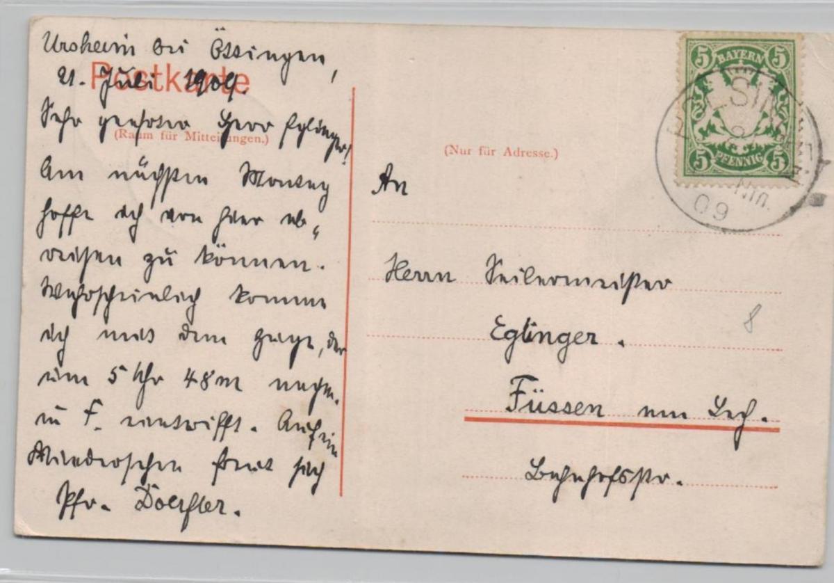 Ursheim....alte Karte    (ke8505  ) siehe scan 1