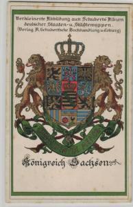 Sachsen Wappen  .....alte Karte    (ke8519  ) siehe scan