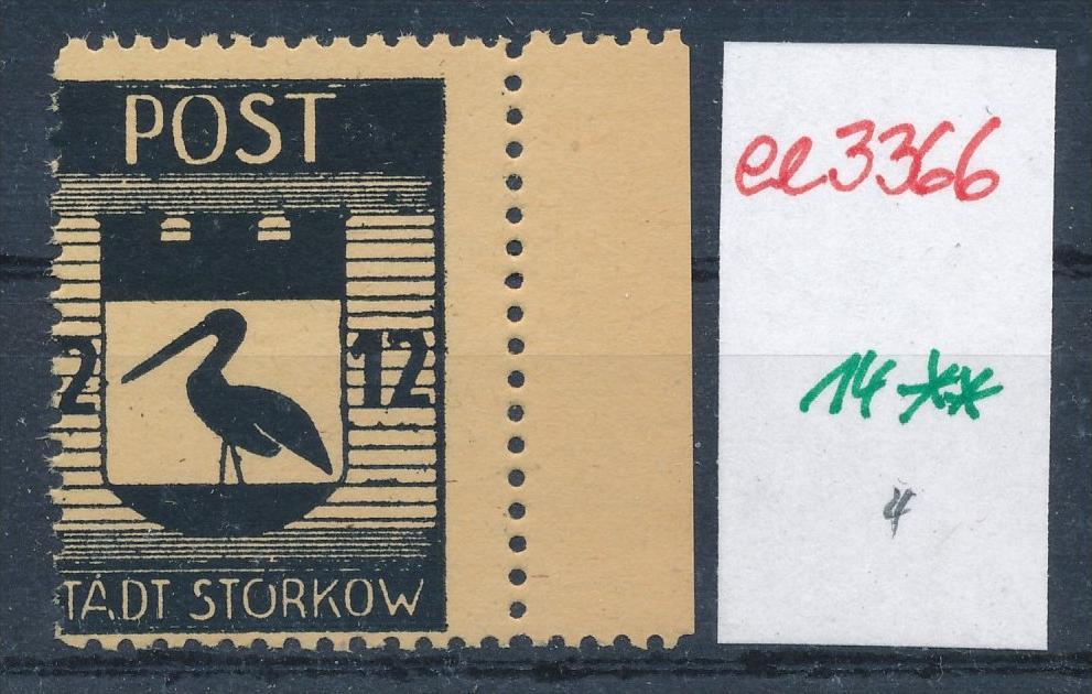 Storkow  Nr. 14 **  Abart   (ee3366 ) siehe scan ! 0