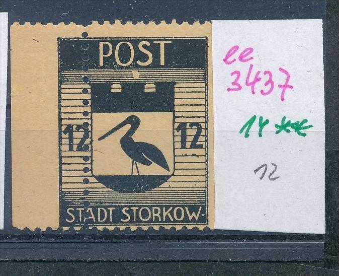 Storkow  Nr. 14 **  Abart   (ee3437 ) siehe scan ! 0