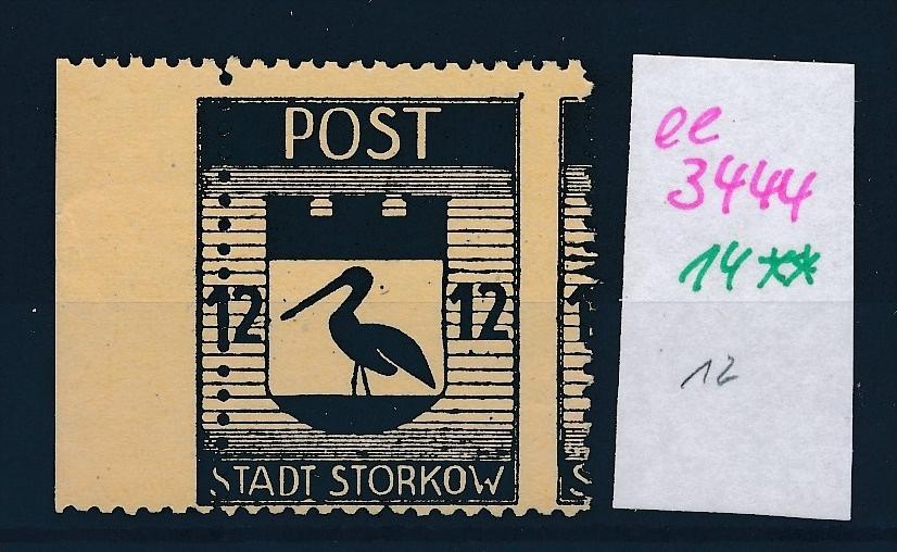 Storkow  Nr. 14 **  Abart   (ee3444 ) siehe scan ! 0