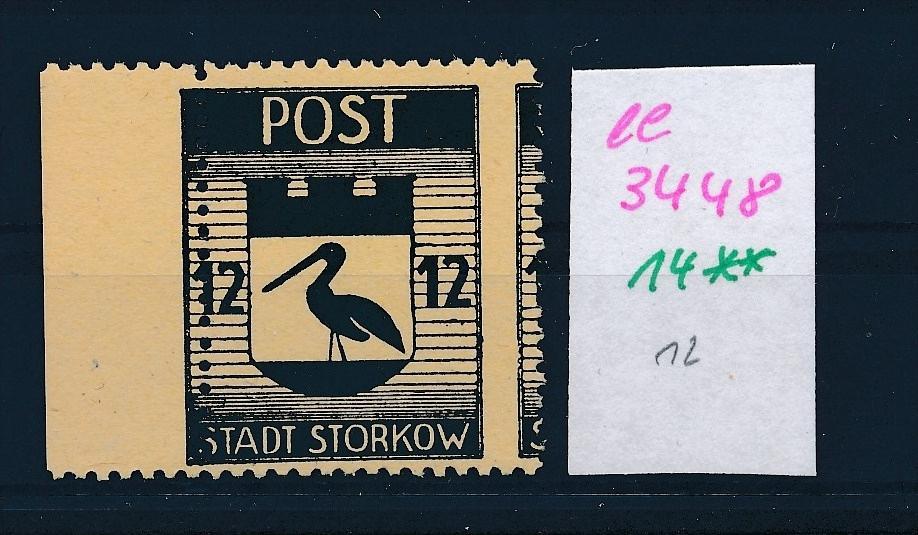 Storkow  Nr. 14 **  Abart   (ee3448 ) siehe scan ! 0