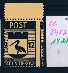 Storkow  Nr. 14 **  Abart   (ee3452 ) siehe scan !