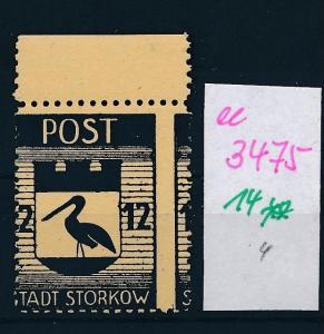 Storkow  Nr. 14 **  Abart   (ee3475  ) siehe scan !