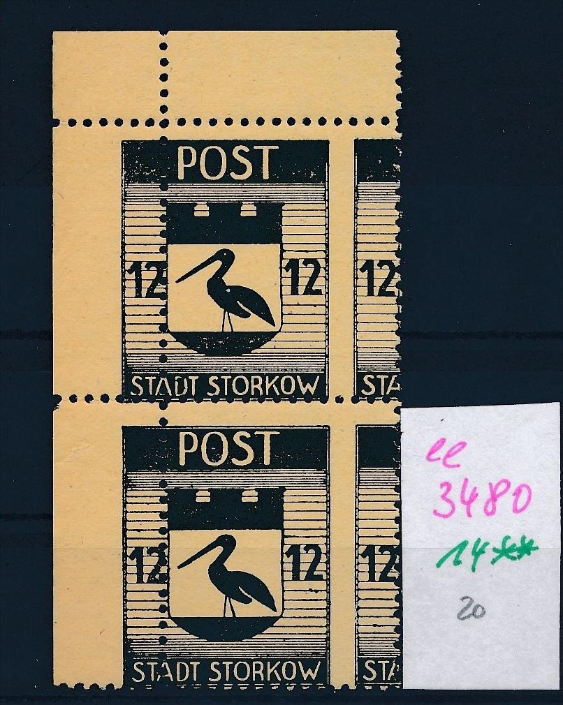 Storkow  Nr. 14 **  Abart   (ee3480  ) siehe scan ! 0