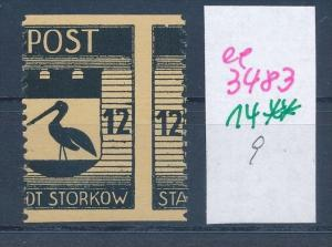 Storkow  Nr. 14 **  Abart   (ee3483  ) siehe scan !