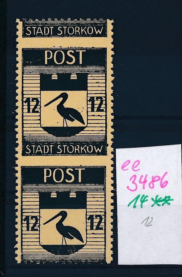 Storkow  Nr. 14 **  Abart   (ee3486  ) siehe scan ! 0