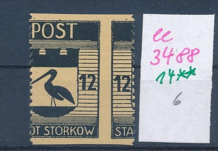 Storkow  Nr. 14 **  Abart   (ee3488  ) siehe scan ! 0