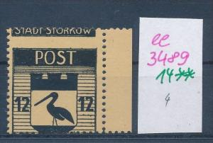 Storkow  Nr. 14 **  Abart   (ee3489  ) siehe scan !