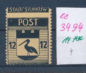 Storkow  Nr. 14 **  Abart   (ee3494  ) siehe scan !
