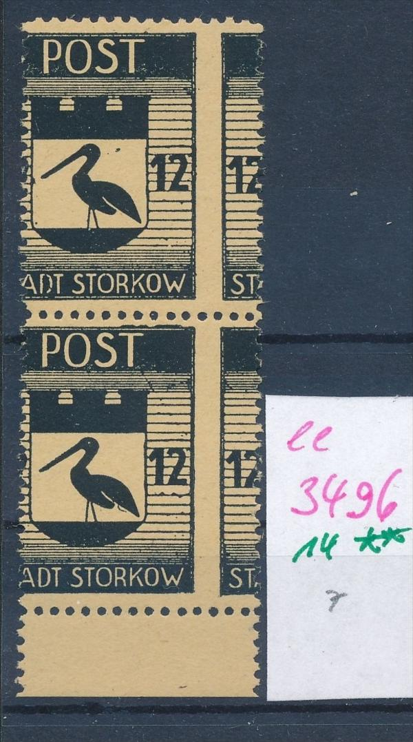 Storkow  Nr. 14 **  Abart   (ee3496  ) siehe scan ! 0