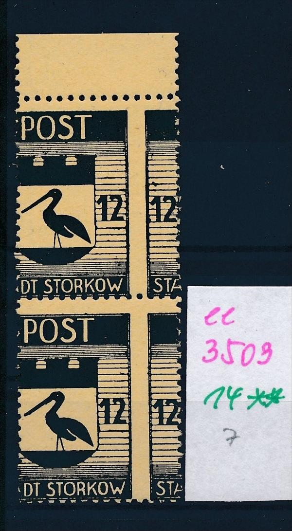 Storkow  Nr. 14 **  Abart   (ee3509  ) siehe scan ! 0