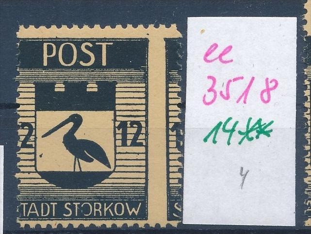 Storkow  Nr. 14 **  Abart   (ee3518  ) siehe scan ! 0
