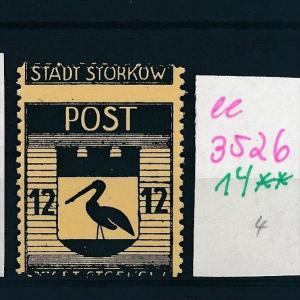 Storkow  Nr. 14 **  Abart   (ee3526  ) siehe scan !