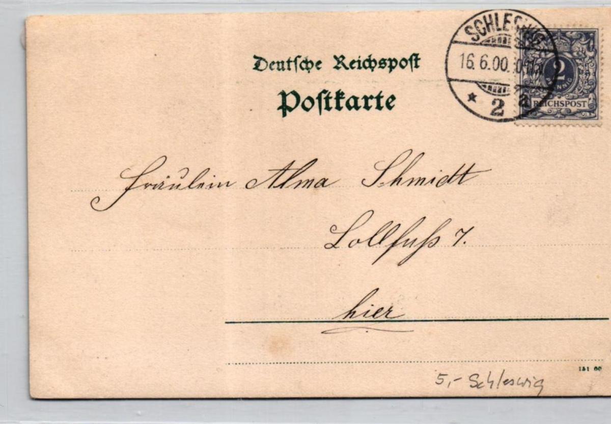 Schleswig ....alte Karte    (ke6923  ) siehe scan 1