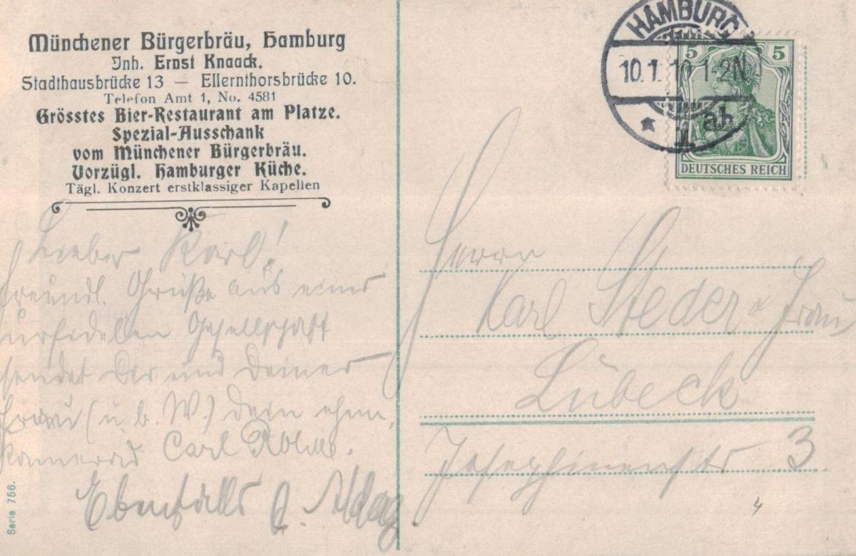 Hamburg.....  alte Karte   (ke8621  ) siehe scan 1