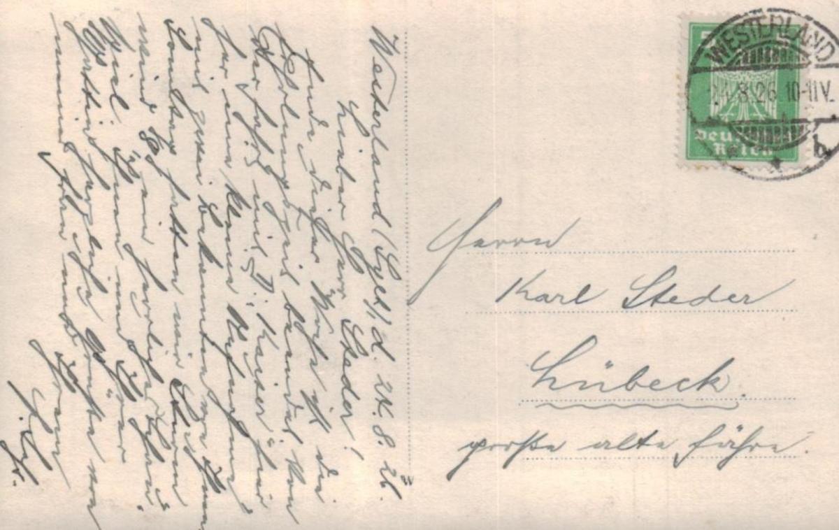 Westerland Boot....alte Karte (ke8721 ) siehe scan 1