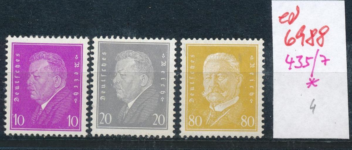 D.-Reich  Nr. 435-7  *  (ed6988  ) siehe scan 0